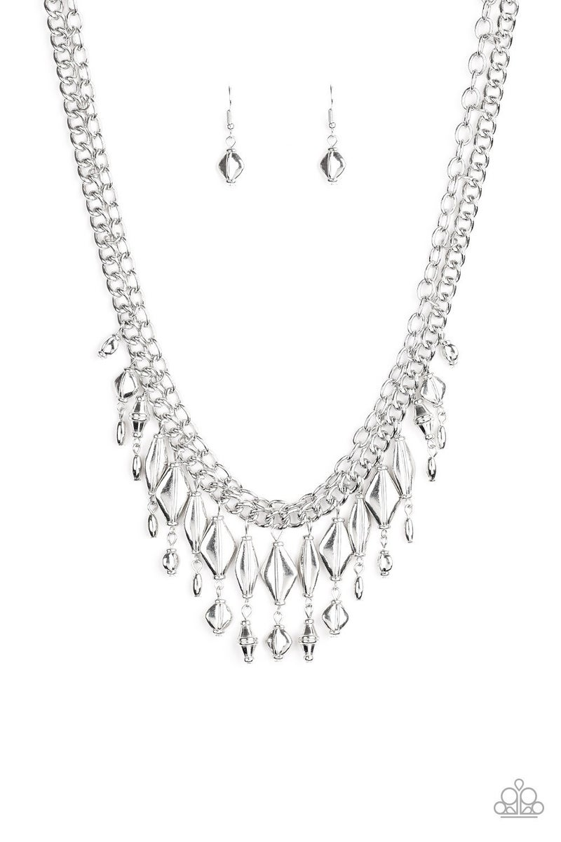 Trinket Trade Silver Necklace - Sparkle with Suzanna