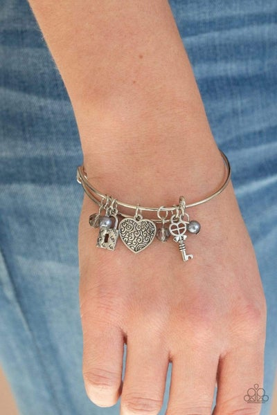 Here Comes Cupid Silver Bracelet