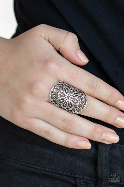 Majestic Mandala Pink Ring