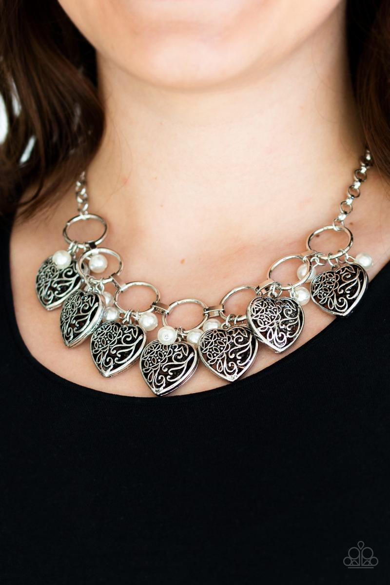 Very Valentine White Necklace