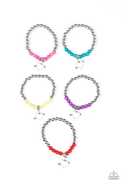 STARLET SHIMMER FLIRTY HEART CHARMS WITH ARROW BRACELETS - 5 pack