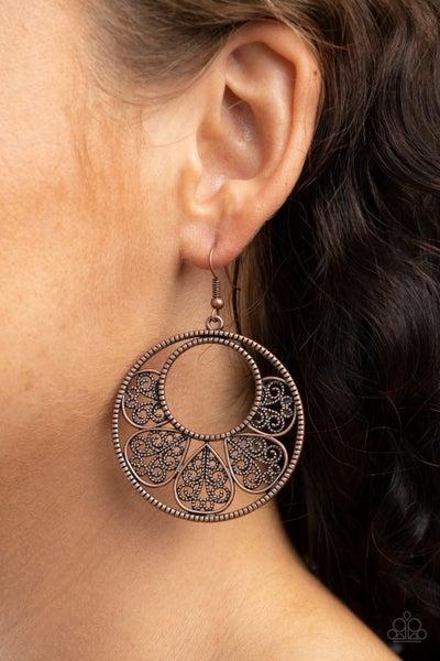 Petal Promenade Copper Earring