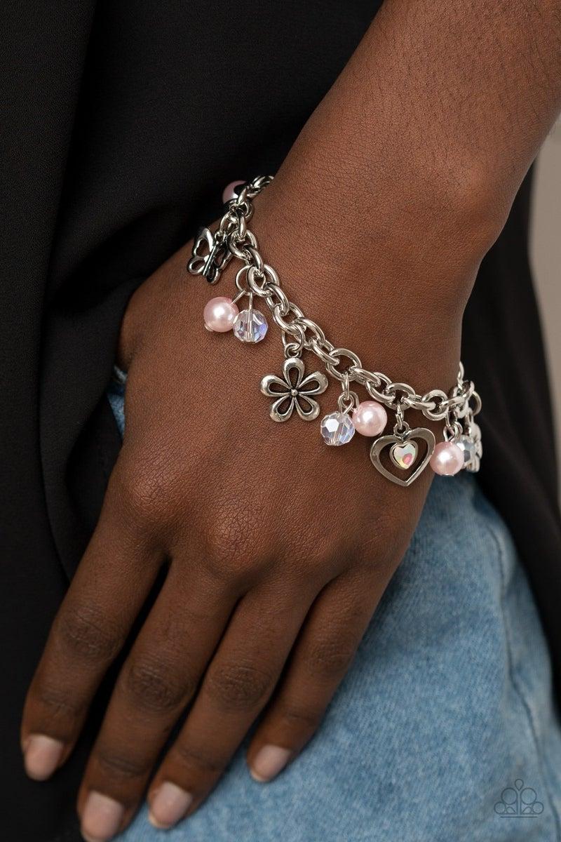 Retreat Into Romance Pink Bracelet