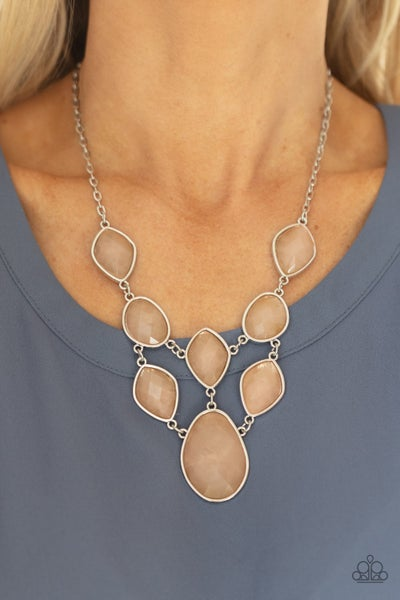 Opulently Oracle Brown Necklace