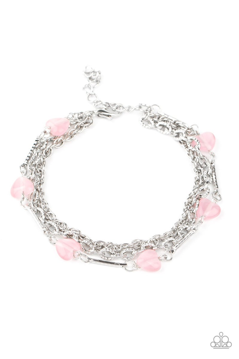 To Love and Adore Pink Bracelet