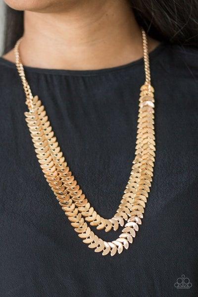 Industrial Illumination Gold Necklace