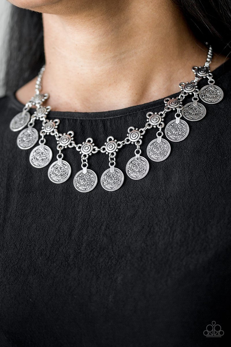 Walk the Plank Silver Necklace