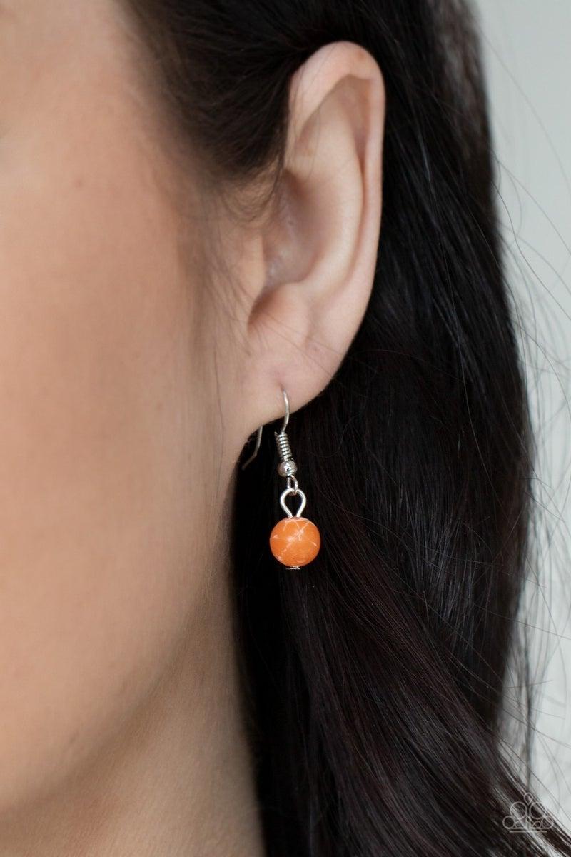 Canyon Oasis Orange Necklace