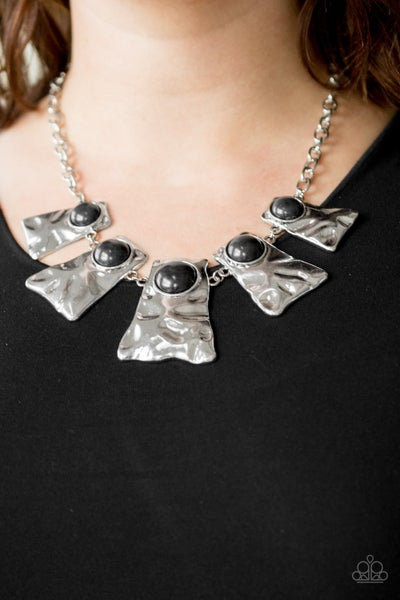 Cougar Black Necklace - Sparkle with Suzanna