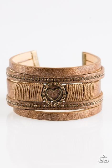 It Takes Heart Brass Urban Bracelet