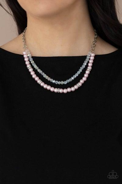 Parisian Princess Pink Pearl Necklace