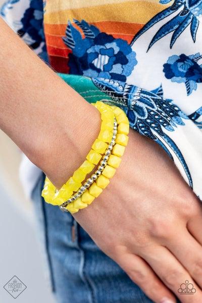 Vacay Vagabond Yellow Bracelet -  Fashion Fix