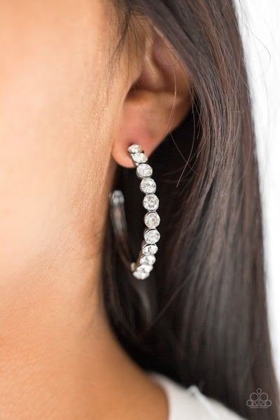 My Kind Of Shine - Gun Metal Hoop Earring - Sparkle with Suzanna