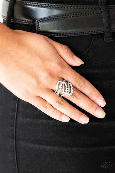 Make Waves White Ring