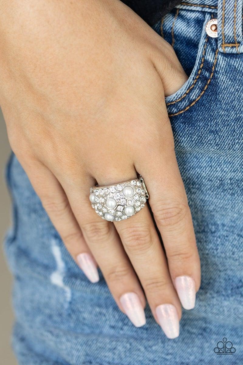 Gatsbys Girl White Pearl Ring- PREORDER