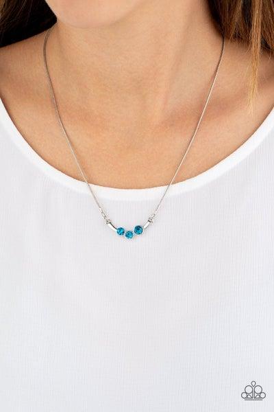 Sparkling Stargazer Blue Necklace