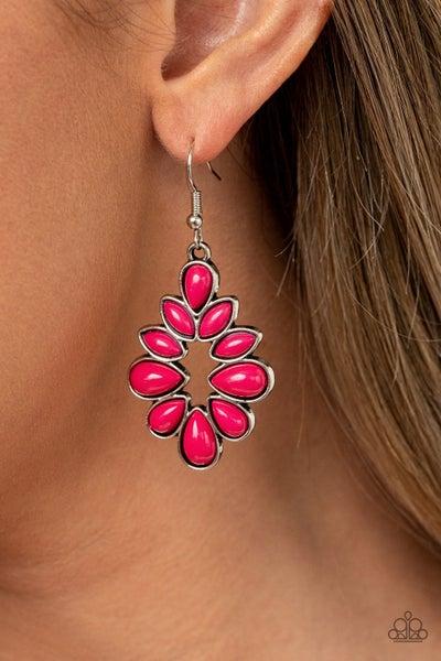 Burst into TEARDROPS Pink Earring