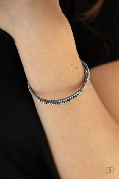 Iridescently Intertwined Black Bracelet