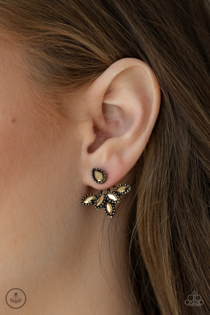 A Force To BEAM Reckoned With Brass Post Earring - Sparkle with Suzanna