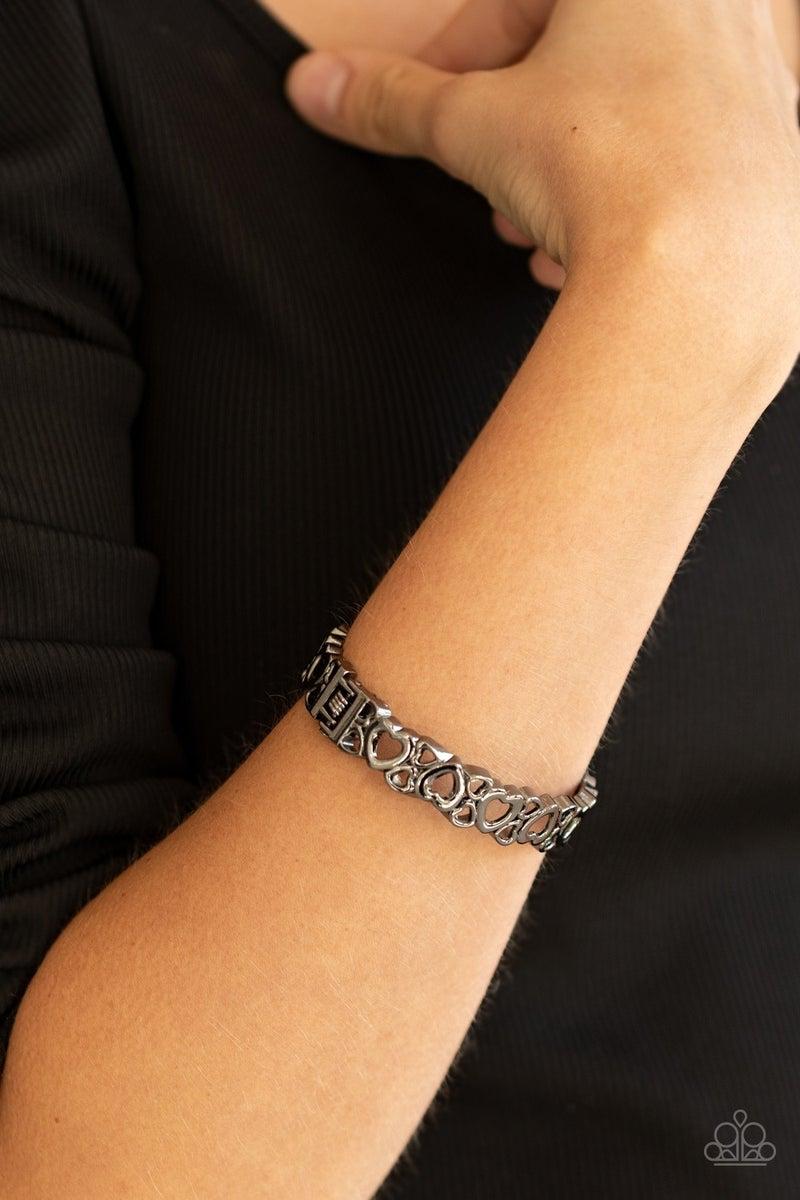 Your Heart the Lady Black Bracelet