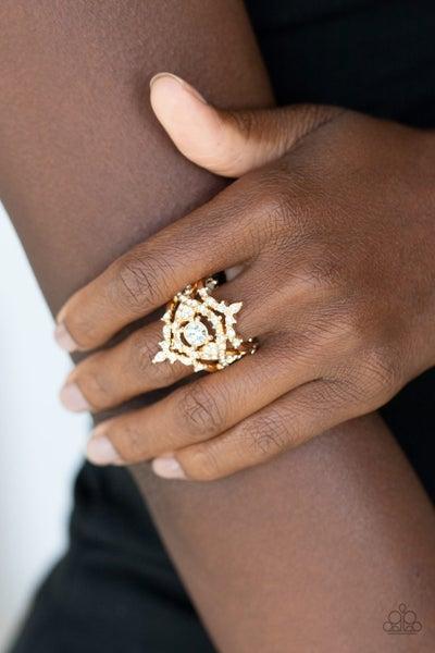 Royal Love Story Gold Ring