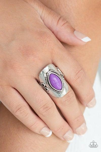 Plain Rode Purple Ring