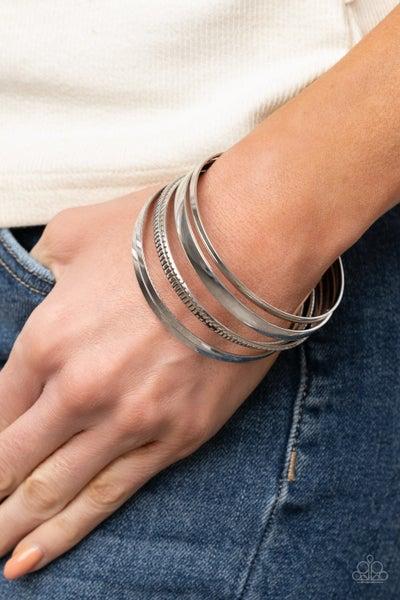 Gliding Gleam Silver Bracelet