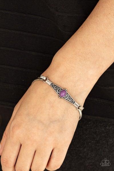 Stone Scrolls Purple Bracelet