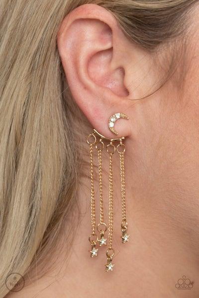 Cosmic Goddess Gold Post Earring
