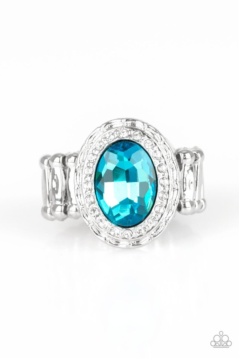 Fiercely Flawless Blue Ring - Sparkle with Suzanna
