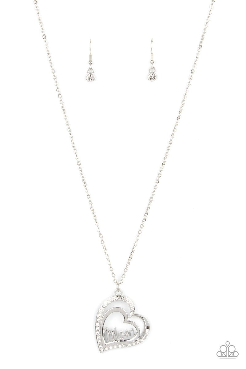 A Mother's Heart - White Necklace