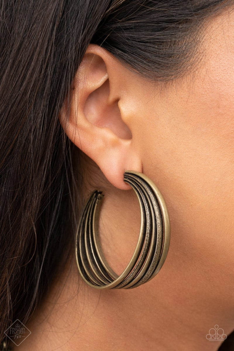 In Sync Brass Earring -PREORDER August FF