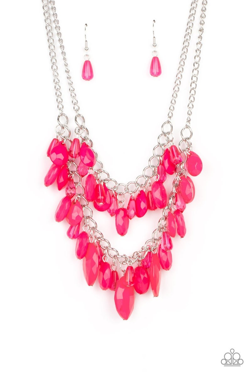 Midsummer Mixer Pink Necklace - Sparkle with Suzanna