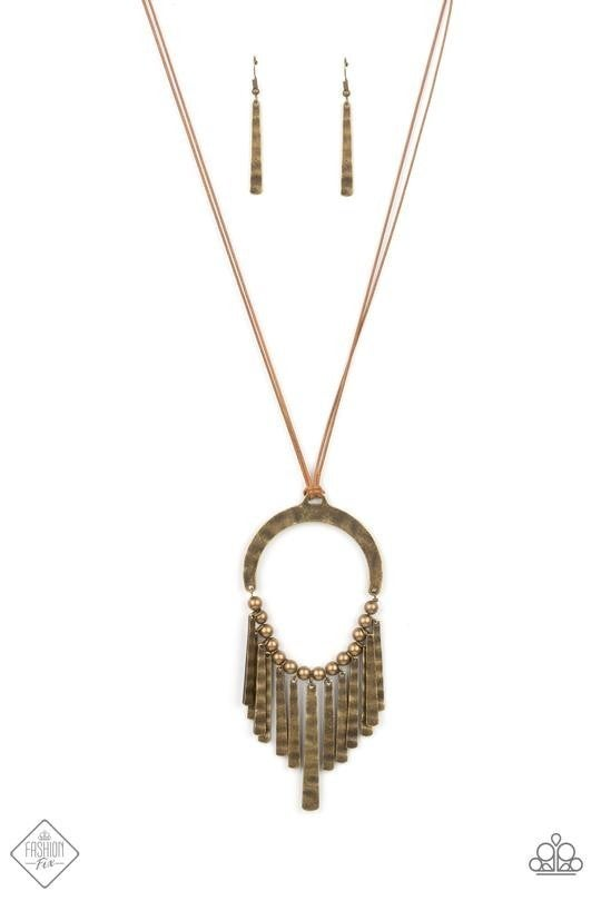 You Wouldn't FLARE! Brass Necklace