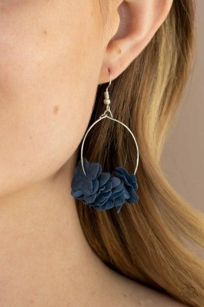 Flirty Florets Blue Earring