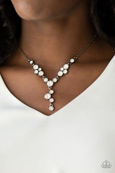 Five-Star Starlet Gunmetal Necklace