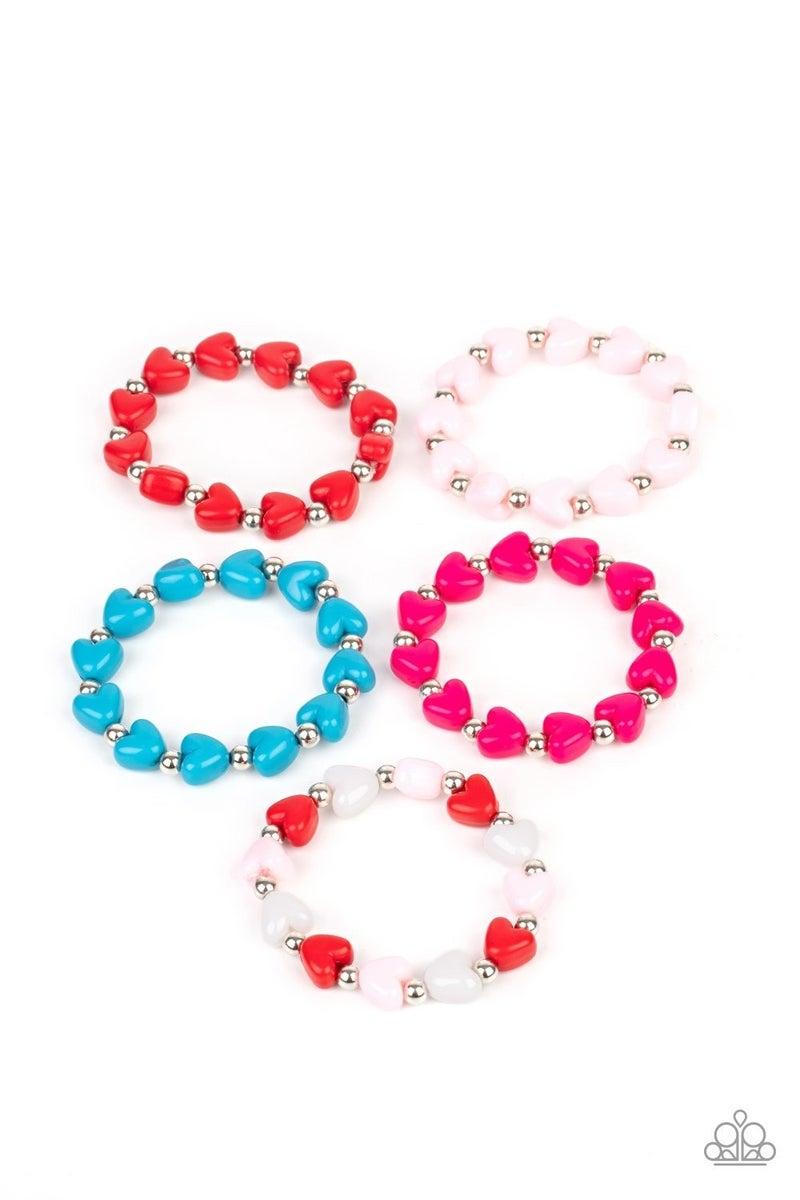 Starlet Shimmer Heart Bracelets - 5 Pack