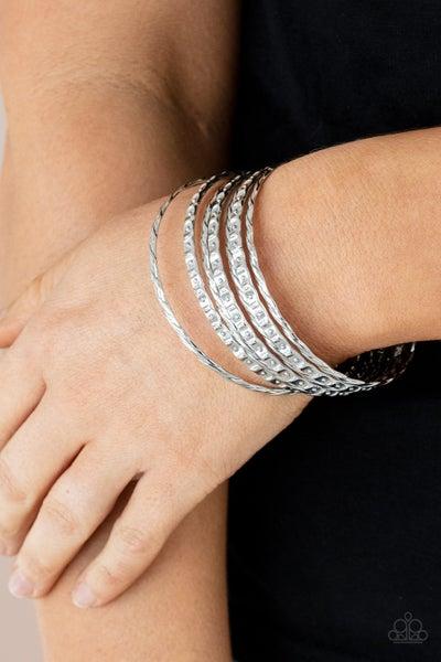 Back-To-Back Stacks - Silver Bracelets