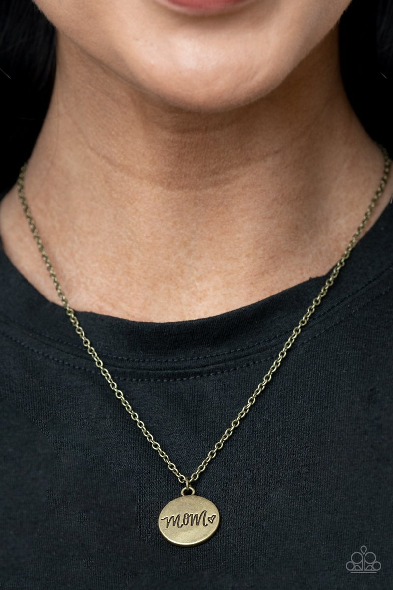 The Cool Mom - Brass Necklace