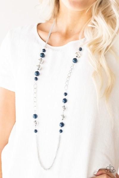 Uptown Talker Blue Pearl Necklace