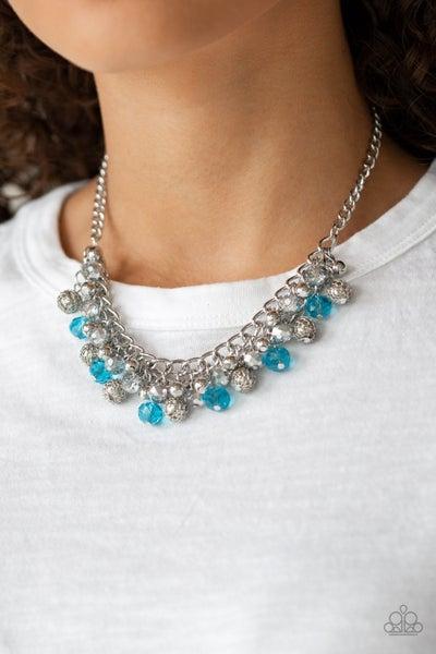 Party Spree Blue Necklace - PRECLAIM