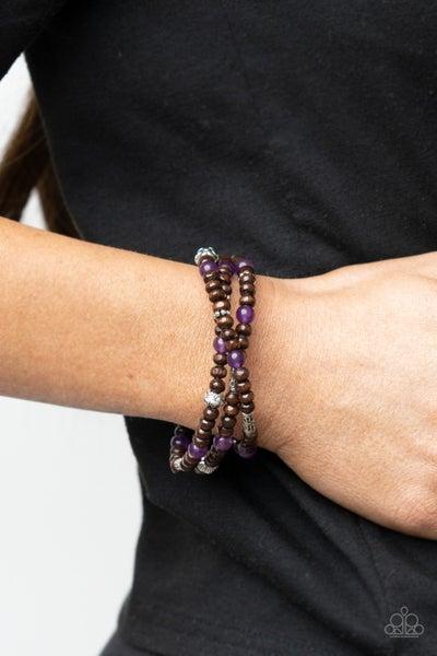 Woodsy Walkabout Purple Bracelet