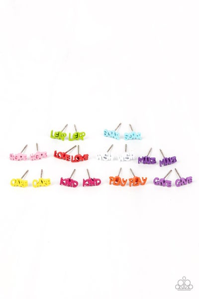 Starlet Shimmer Multicolored inspirational Earrings - 10 Pairs - PREORDER