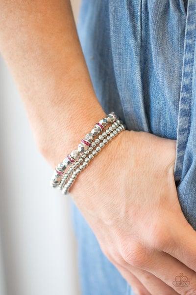 Let There BEAM Light Pink Bracelet