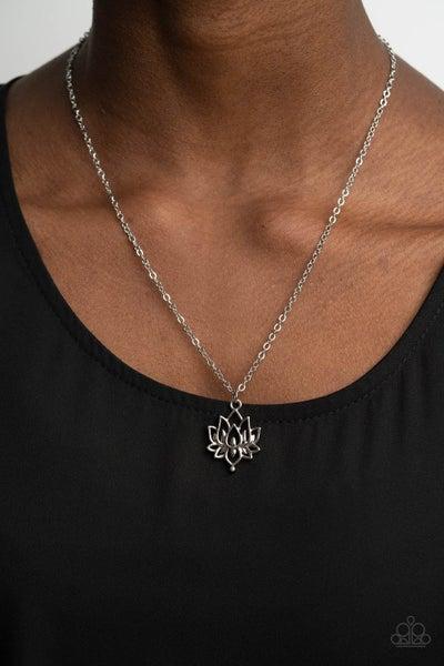 Lotus Retreat Silver Necklace