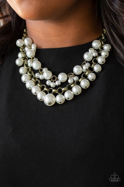 Ballroom Service Brass Necklace