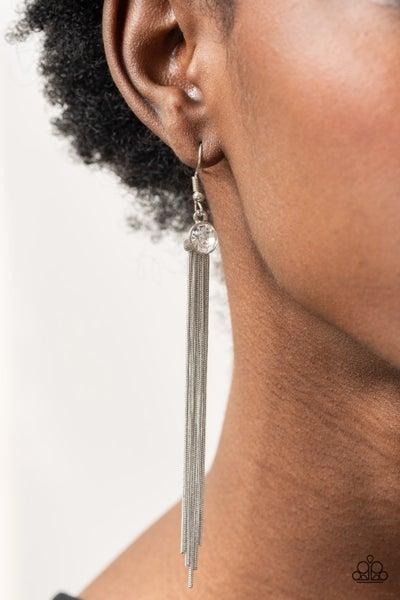 Always In Motion White Earring - PRECLAIM