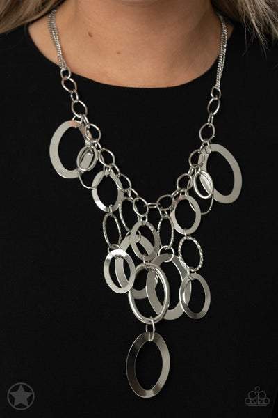 Paparazzi A Silver Spell - Silver - Blockbuster Necklace & Earrings