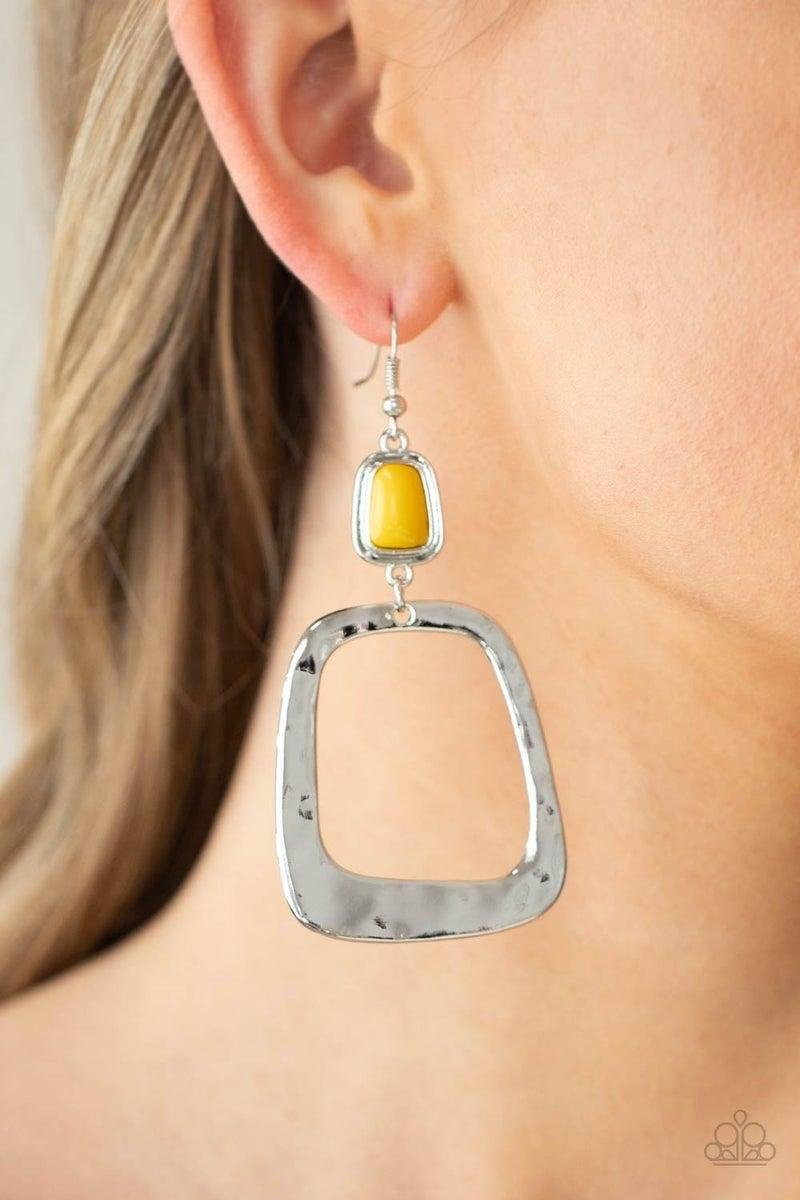 Material Girl Mod Yellow Earring