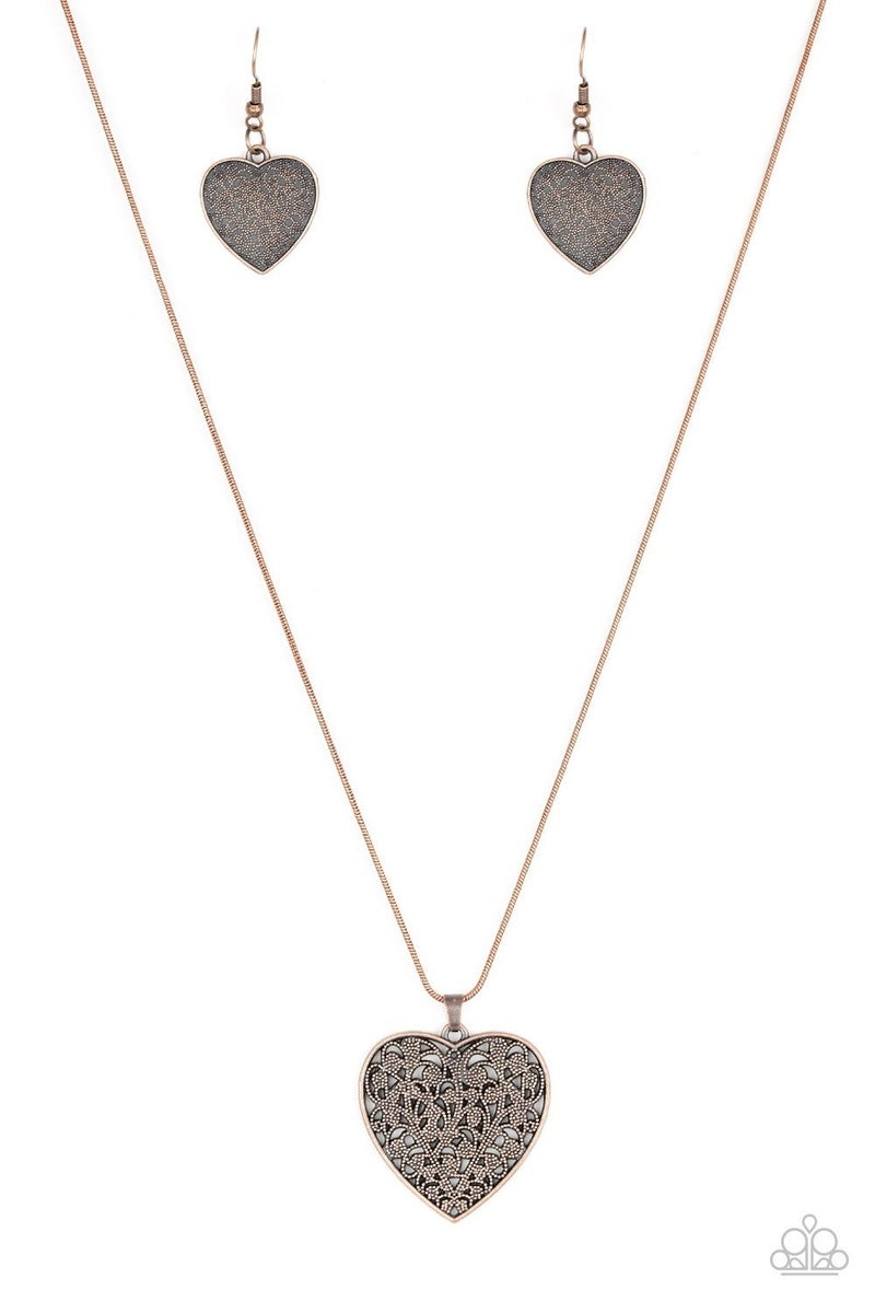 Look Into Your Heart Copper Necklace